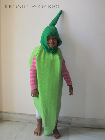 Dressed as Okra for Vegetable Day